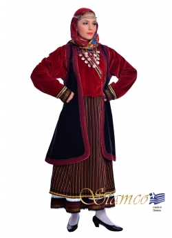 Greek Traditional costume Orini Serres Woman