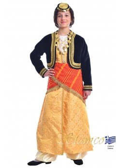 Greek Traditional Costume Pontian Girl with Vest