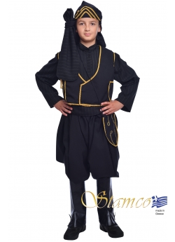 Traditional Pontos Boy Black Costume