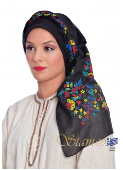 Greek Traditional Cotton Scarf of Dodecanese Island