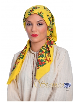 Greek Traditional Cotton Scarf of Petrota - Thrace