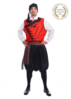 Greek Traditional Island Costume with Embroidered Vest