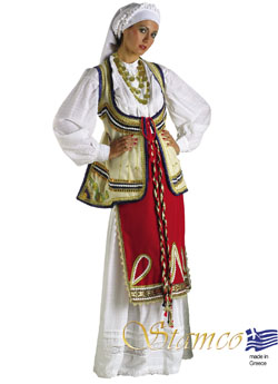 Traditional Roumeli Woman Costume