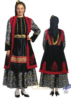 Traditional Epirus Zitsa Woman Costume