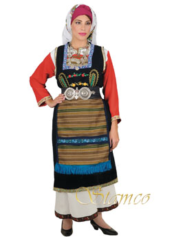 Traditional Thrace Woman Costume