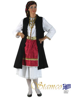 Traditional Epirus Black Vest Costume
