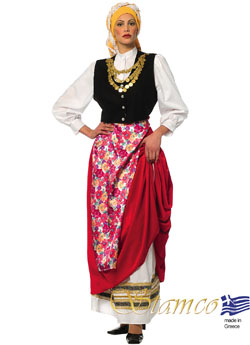 Traditional Cephalonian Woman Costume