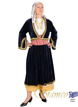 Traditional Aegean Islands Woman Costume
