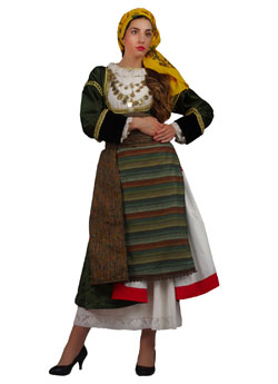 Traditional Megara Woman Costume