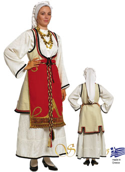 Traditional Sterea Hellas Woman Costume