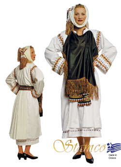 Traditional Xios Pyrgi Woman Costume