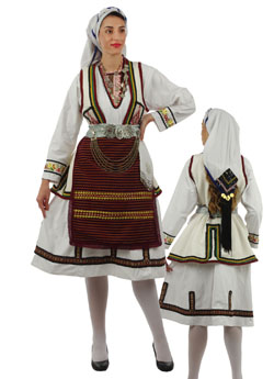 Traditional Florina Woman Costume