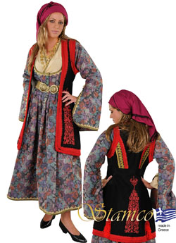 Traditional Epirus Woman with Embroidery Costume