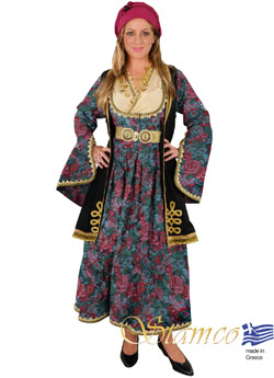 Traditional Epirus Brocade Gray Costume