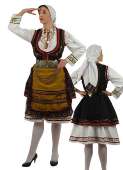 Traditional Florina Embroidery Costume