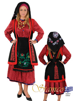 Traditional Zagori Embroidery Costume