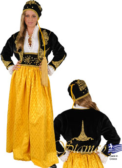 Traditional Amalia Embr. Gold Costume