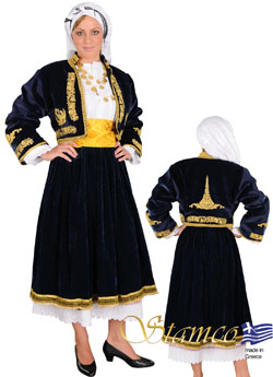 Traditional Cyclades Embroidery Costume