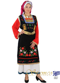 Traditional Thrace Woman Embroid Costume
