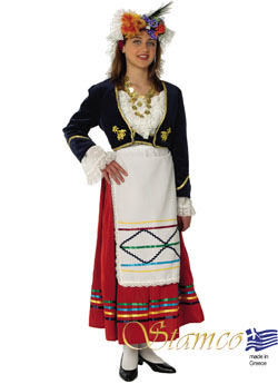 Traditional Corfu Woman Costume