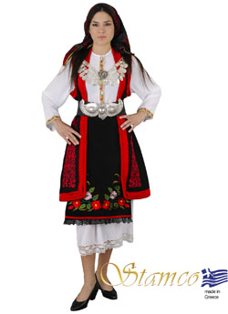 Traditional Macedonia Embroidery Costume