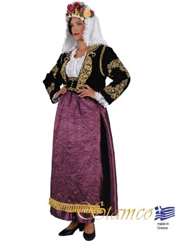 Traditional Corfu Kerkira  Woman Costume