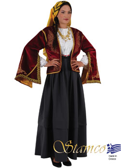 Traditional Asia Minor Woman Costume