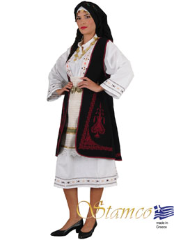 Traditional Souliotisa Embroider Costume