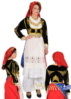 Traditional Crete Embroidered Costume