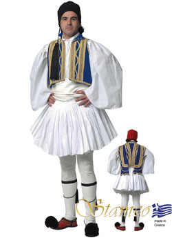 Traditional Evzonas Man Blue Costume