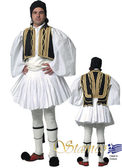 Traditional Evzonas Man Black Costume