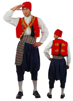 Traditional Aegean Islands Embroidered Costume