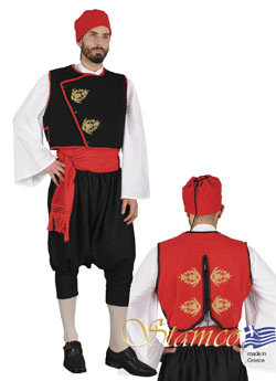 Traditional Cyclades With Embroidery Costume