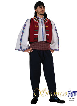 Traditional Thrace Evros Man Costume