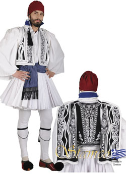 Traditional Evzonas Embroidered Costume