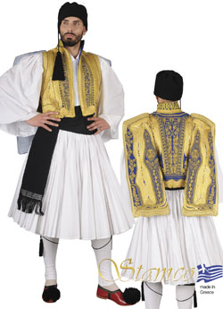 Traditional Evzonas Gold Emroidered Costume