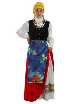 Traditional Cefalonian  Girl Costume