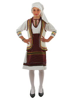 Traditional Florina Girl Costume