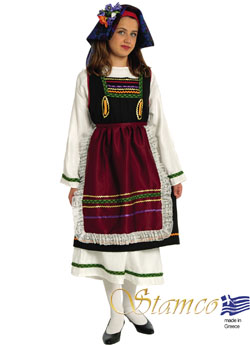 Traditional Thrace Girl Costume