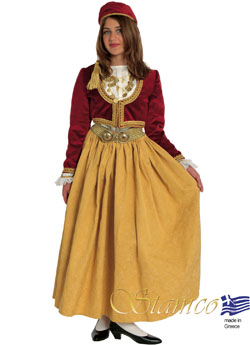 Traditional Amalia Velvet Brocad Costume