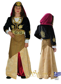 Traditional Pontos Girl Embroidered Costume