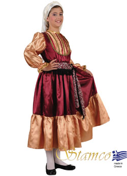 Traditional Aegean Island Girl Costume