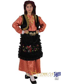 Traditional Epirus Brocade Girl Costume
