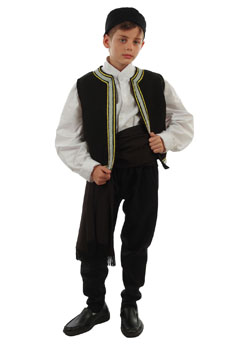 Traditional Calkidiki Boy Costume