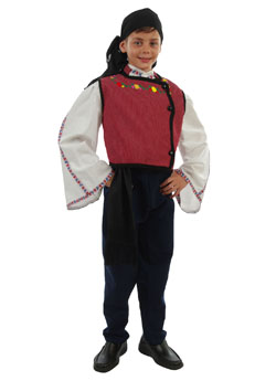 Traditional Thrace Boy Costume