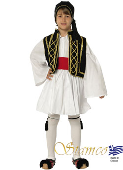 Traditional Tsolias Black-Gold Costume