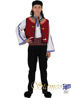 Traditional Thrace Evros Boy Costume