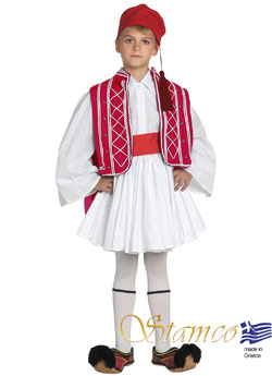 Traditional Tsolias Boy Red Costume