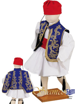 Traditional Tsolias Baby Embroid Costume