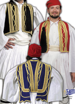 Traditional Evzonas Vest Decor
